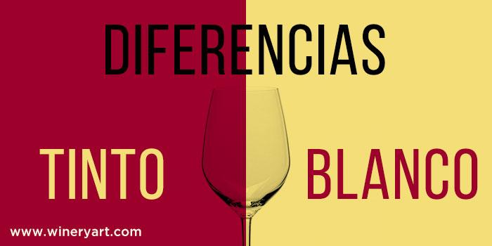 vino tinto y el vino blanco