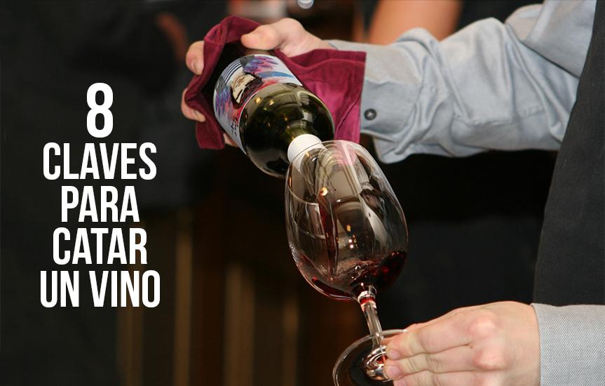 catar correctamente un vino