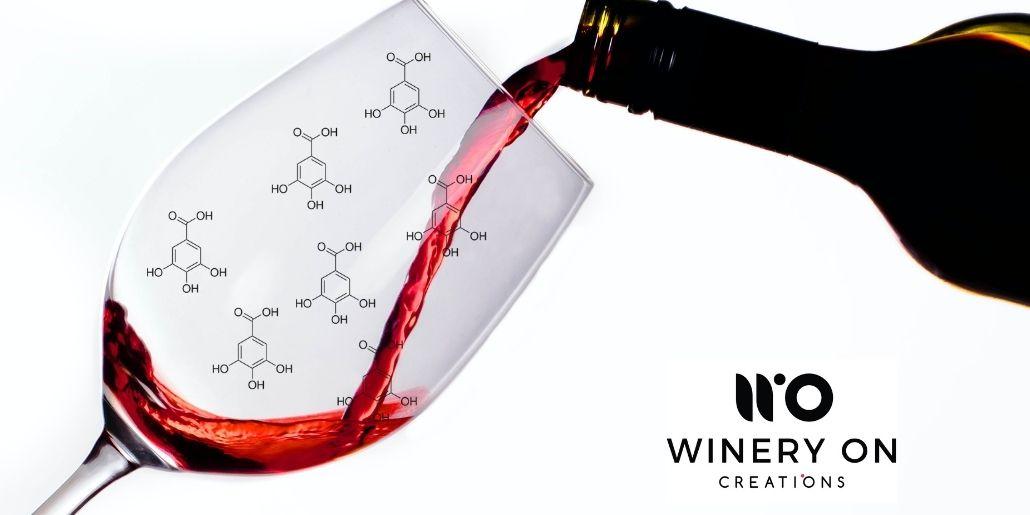 Qué son los taninos del vino servido en copa